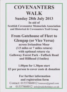 Poster for Covenanters Walk 2013